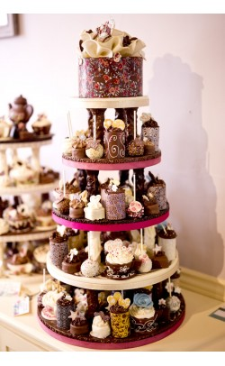Chocolate Celebration Tower Wedding Cake
