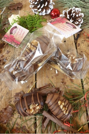 Chocolate Covered Dates stuffed with Marzipan - Sleeve of 2