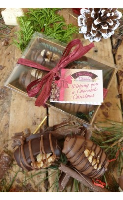 Chocolate Covered Dates stuffed with Marzipan - Box of 4